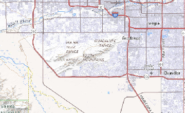 Map Of Central Arizona.Geologic Map Of The South Mountains Central Arizona Plate 1