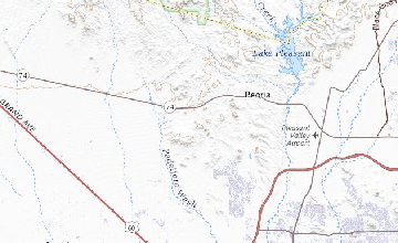 Map Of Central Arizona.Geologic Map Of The Southern Hieroglyphic Mountains Central Arizona