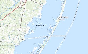 Coastal Virginia Map.Bathymetry Of Maryland Virginia Coastal Bays Sciencebase Catalog