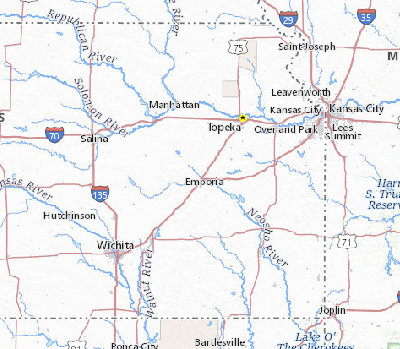 Search Results ScienceBase ScienceBaseCatalog - Kansas rivers map