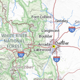 Colorado Ers Mountain Locations And Forecasts - 14ers map us