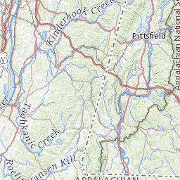 hiking trail map for northwest connecticut and litchfield hills on